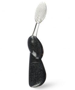 Juodo marmuro dantų šepetėlis Radius Big Brush